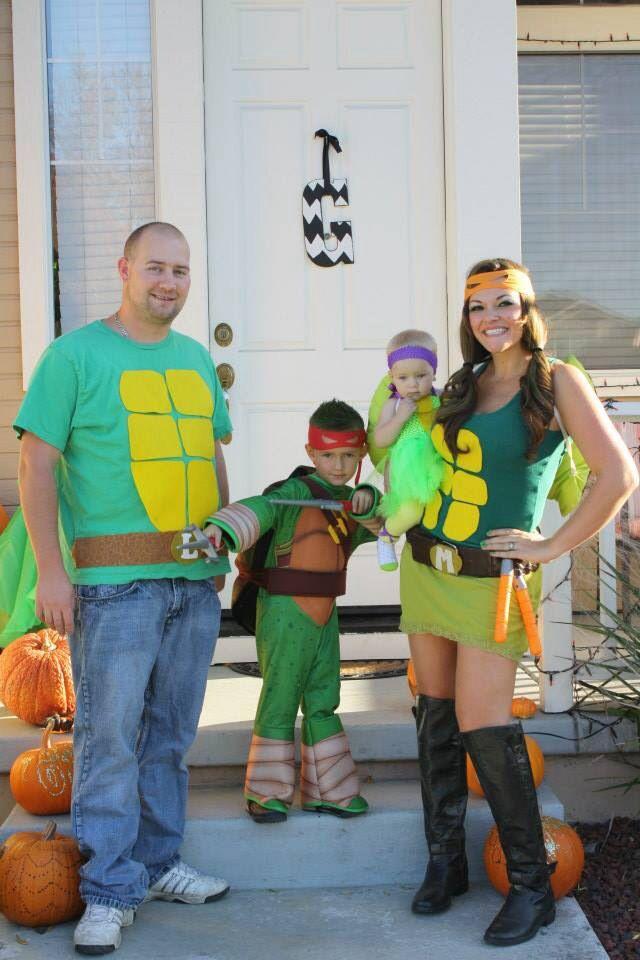 halloween costumes teenage mutant ninja turtle family