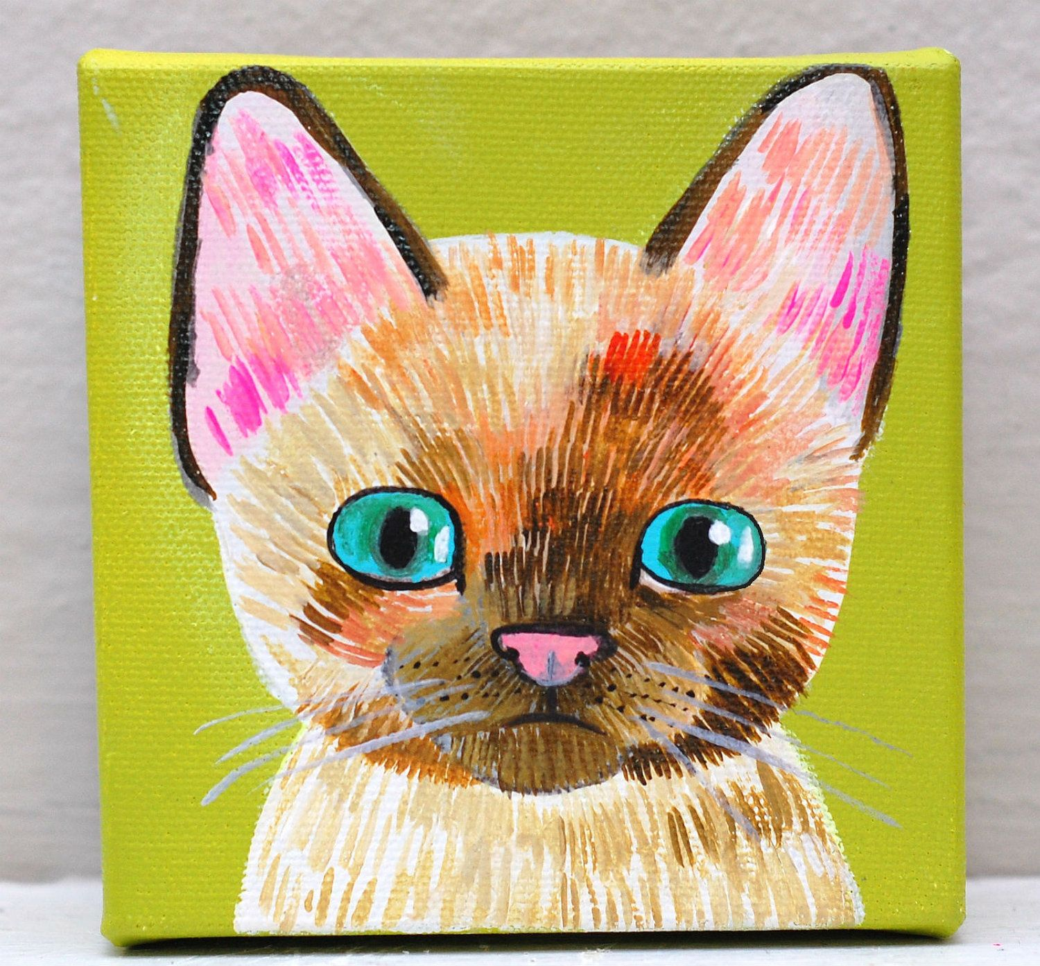 Don T Be Crazy Give Queen Of The Cats Original Cat Paintings To Everyone Only 22 Cats Art Etsy Kitte Kids Canvas Painting Canvas Painting Cat Painting