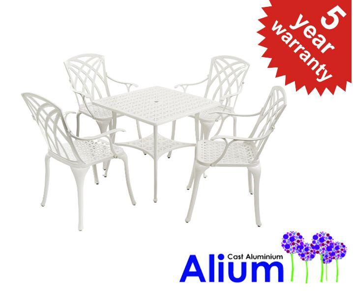 Alium™ Washington Cast Aluminium 4 Seater Square Garden Furniture