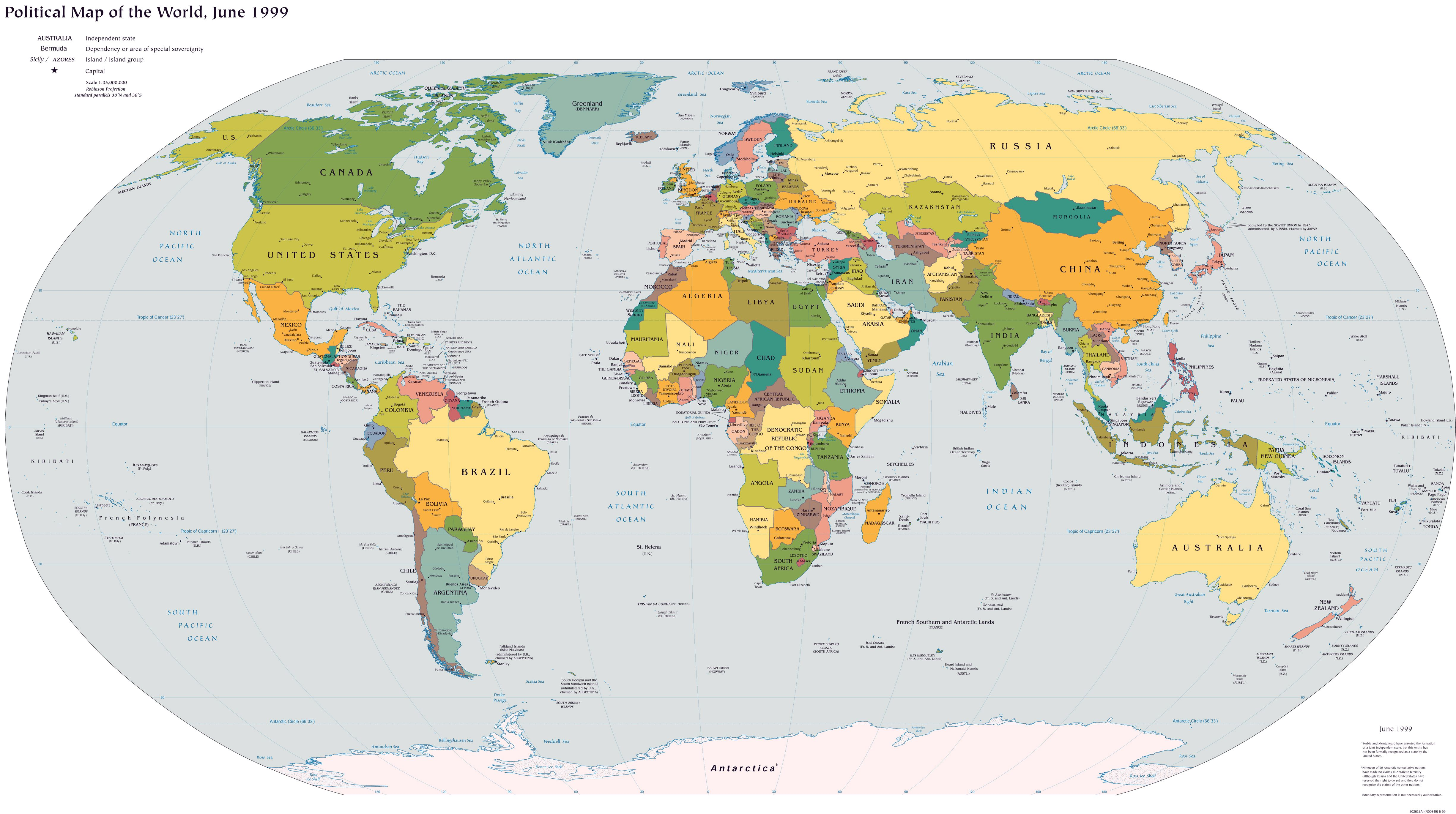 Large scale political map of the world 1999g 49002740 map large scale political map of the world 1999 gumiabroncs Images