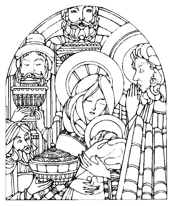 Free Printable Nativity Scene Coloring Pages Nativity Coloring