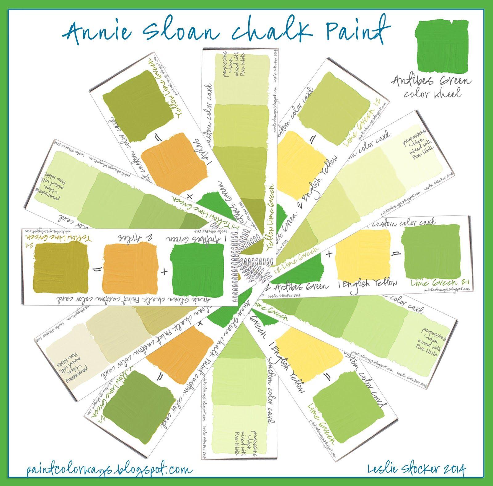 COLORWAYS Annie Sloan Chalk Paint Antibes Green color wheel. Custom ...