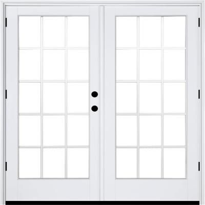 Mp Doors 72 In X 80 In Fiberglass Smooth White Left Hand Outswing