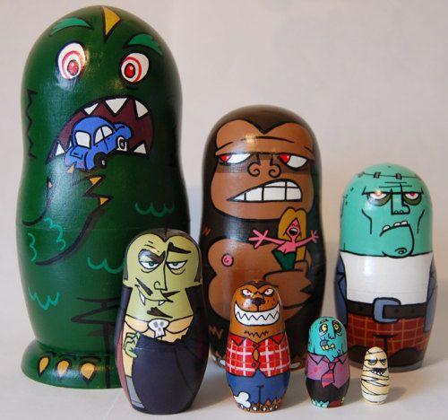 Monsters Nesting Dolls