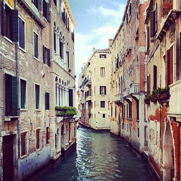 Never ending canals & cute water doorsteps in #venice. - @garypeppergirl- #webstagram