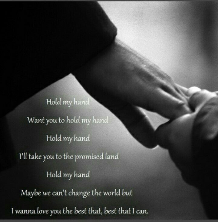 I Want Someone To Walk With Me Hand In Hand