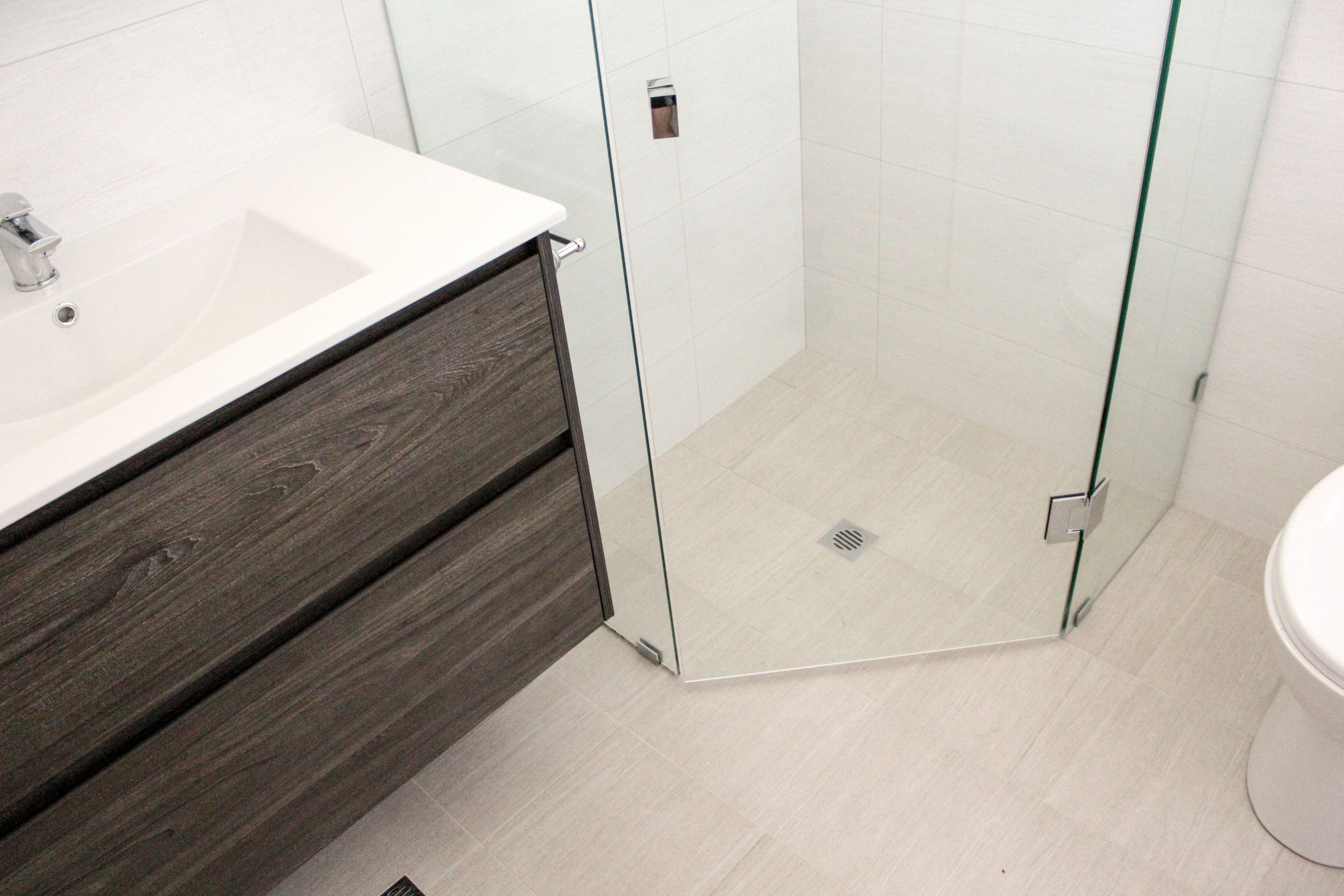 Charcoal Vanity - Wall Hung Vanity - Grey Bathroom - Frameless ...