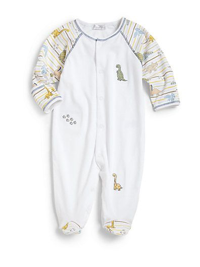 Kissy Kissy Infant S Pima Cotton Dino Footie Baby Boy Outfits Baby Footies New Baby Girls