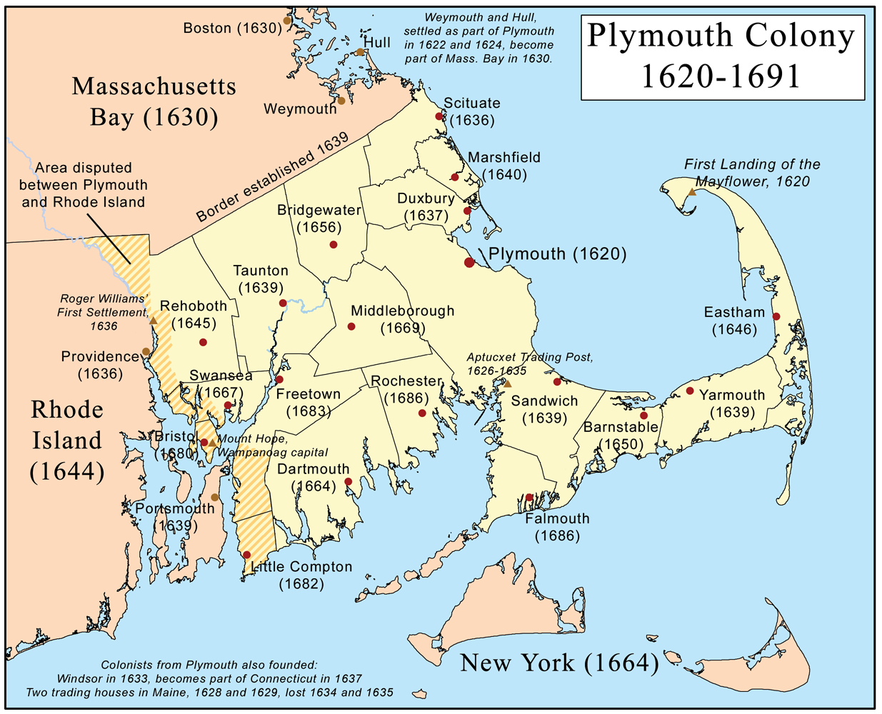 Colonial map of Plymouth Colony Google Search Massachusetts