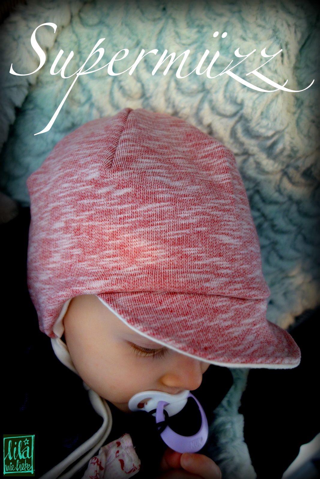 8faac249265410 supermuezz kindermuetze freebook- Mütze mit Schirm - Schirmmütze,  Bindemütze, Mütze zum binden für Babys und Kinder KU 45-54