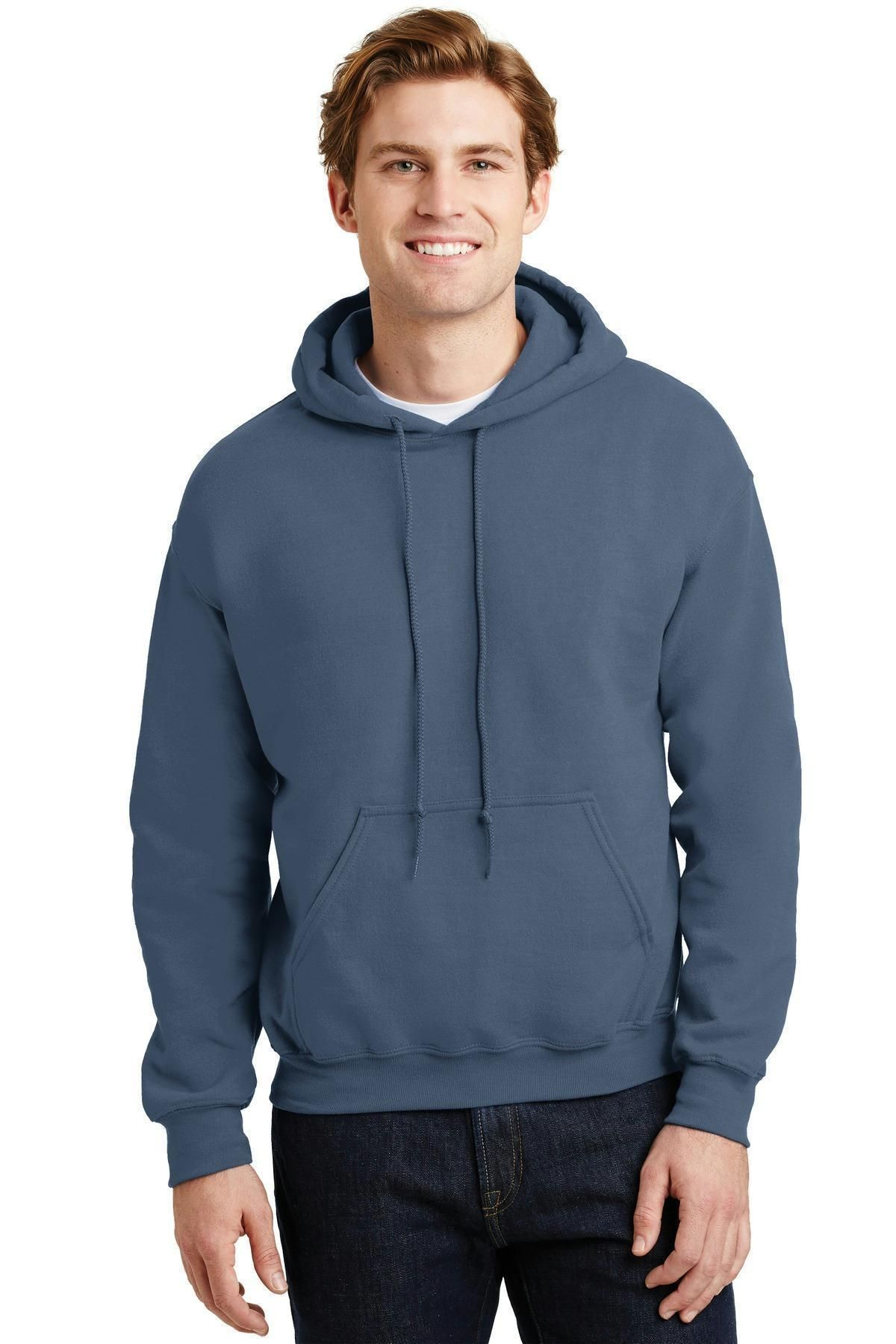Purple Gildan Plain Hooded Heavy Blend Sweatshirt Pullover mens hoodie