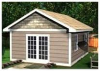 Deluxe Cabana   Storage Shed Plans