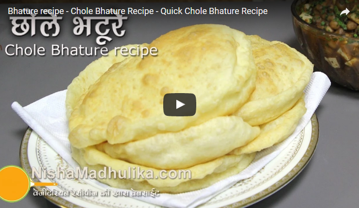 Chole bhature recipe video indian vegetarian recipes pinterest chole bhature recipe video forumfinder Image collections