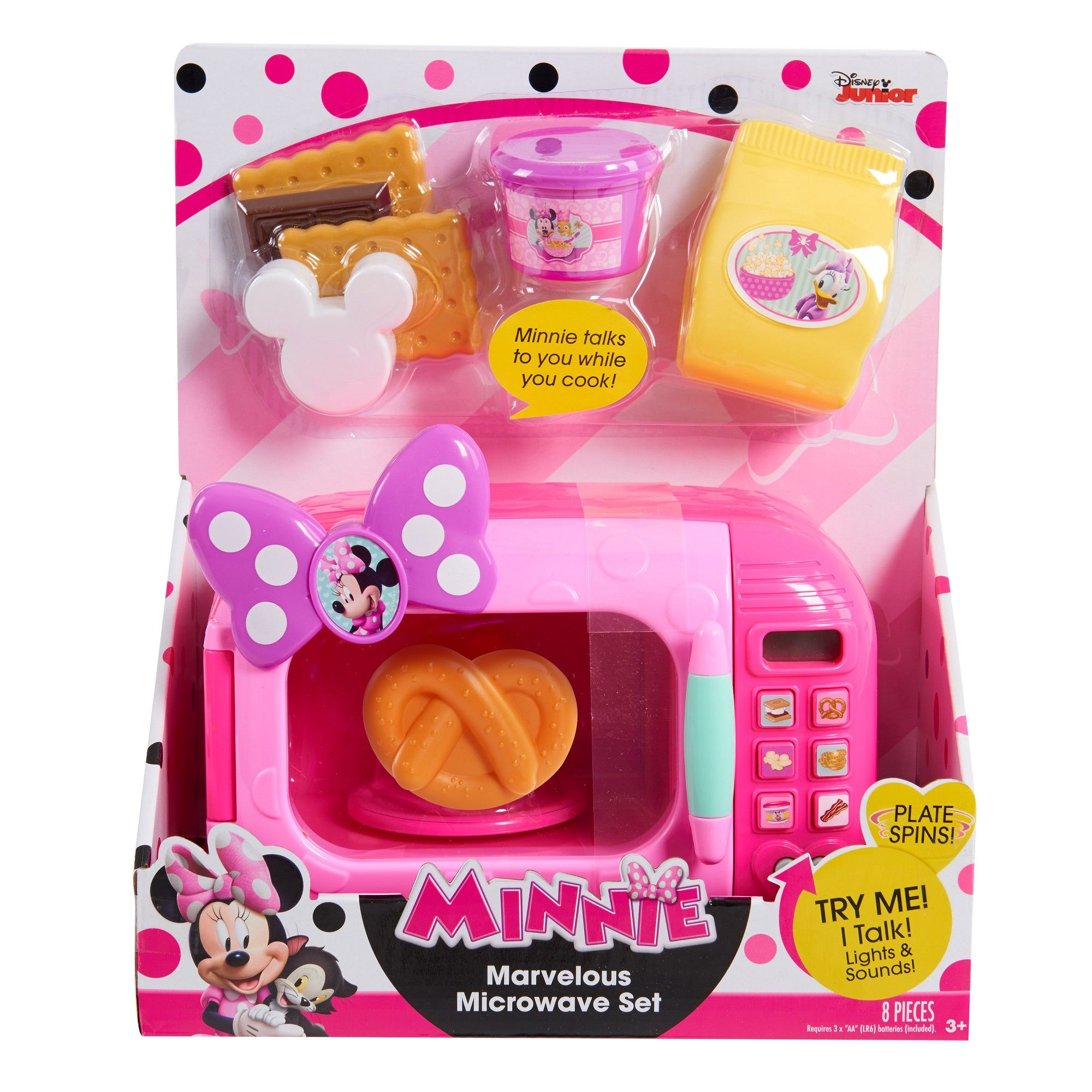 Minnie Mouse Baby Disney Baby Kids Girls Pink 5 Piece Microwavable Dinner Set
