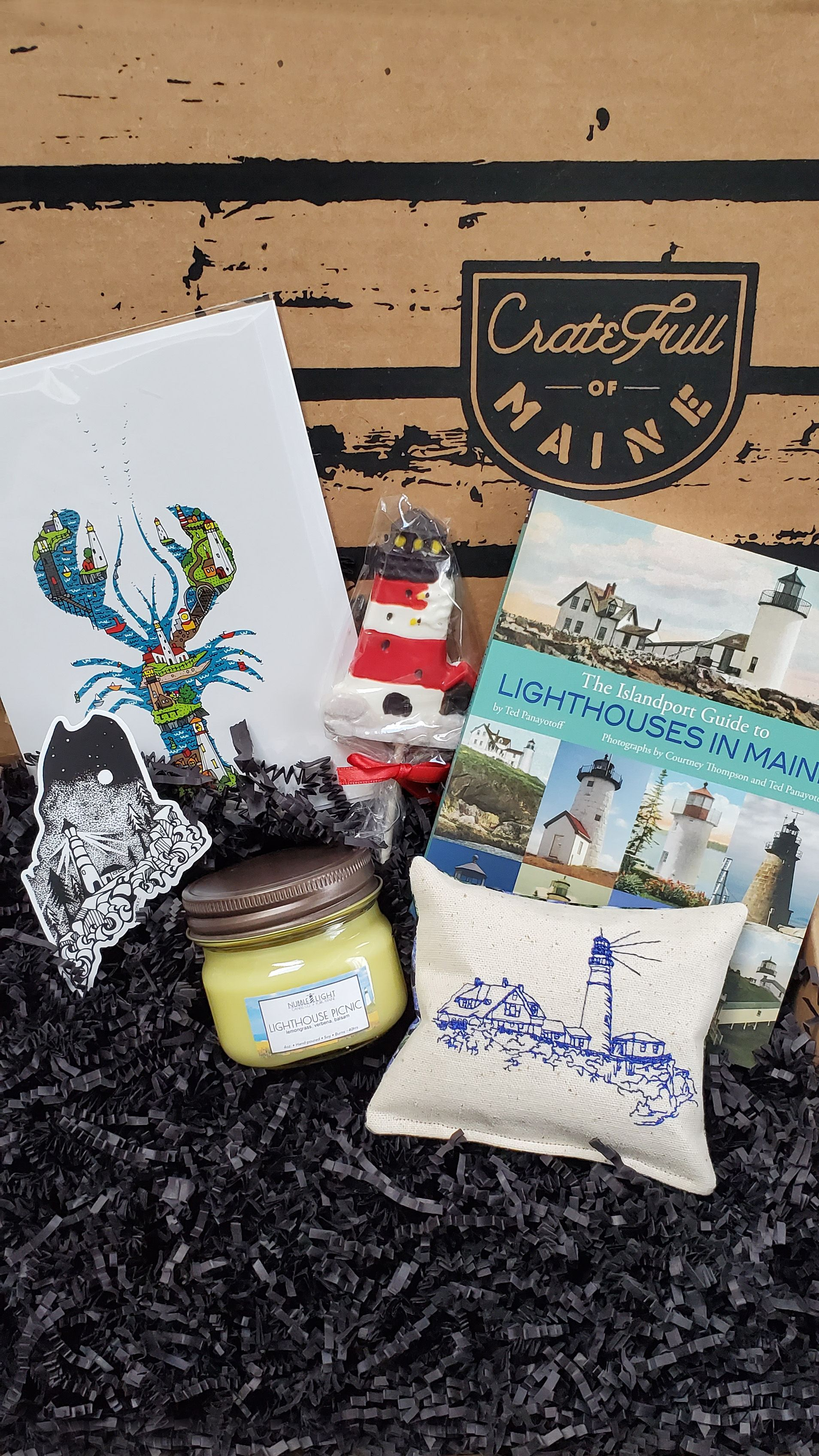 Lighthouse lover cratefull of maine lighthouse gifts
