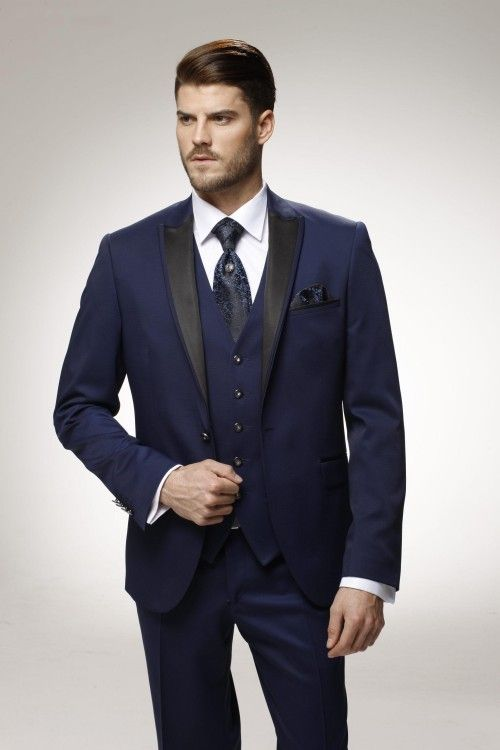 Click To Latest Coat Pant Designs Navy Blue Formal Custom Wedding Suits For Groomblue