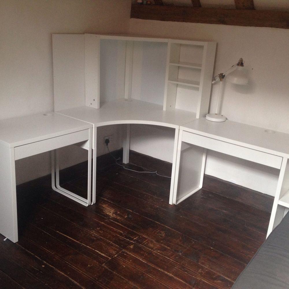 Ikea Micke Corner Station And Two Desks Excellent