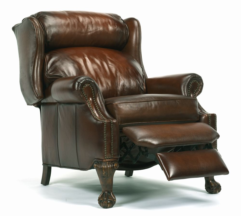 Flexsteel wing back leather recliner chill pinterest for Wing back recliner chair