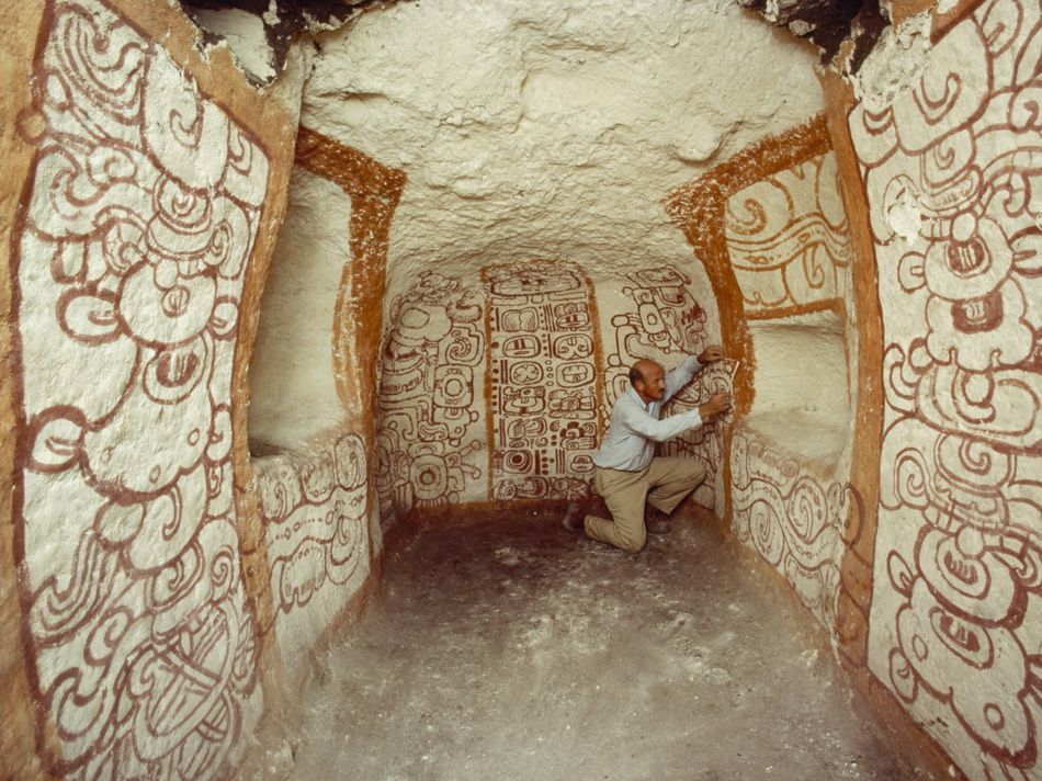 Mexico   Richard Adams Examined Pre Columbian Maya Wall Murals In Tomb One  At Rio. Wall MuralsNational Geographic ... Part 40