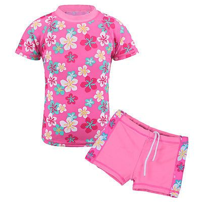 Baby Girls UPF 50 Rash Guard Swimwear Swimsuit Tankini Bathing Suit Beachwear