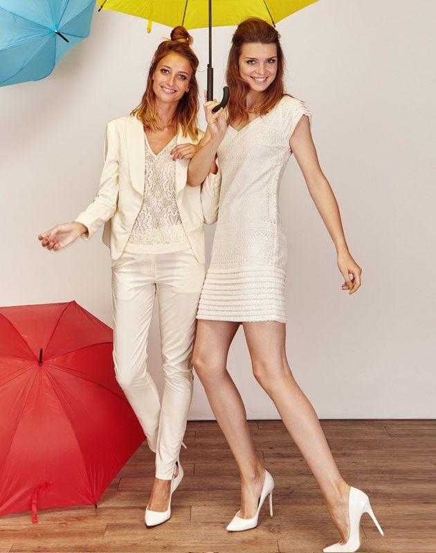 veste tailleur blanche de mari e et pantalon tailleur blanc tailleur femme pour mariage civil. Black Bedroom Furniture Sets. Home Design Ideas