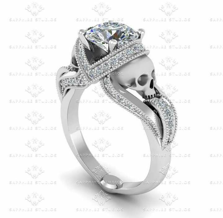 Badass engagement ring Till death do us part Pinterest Till