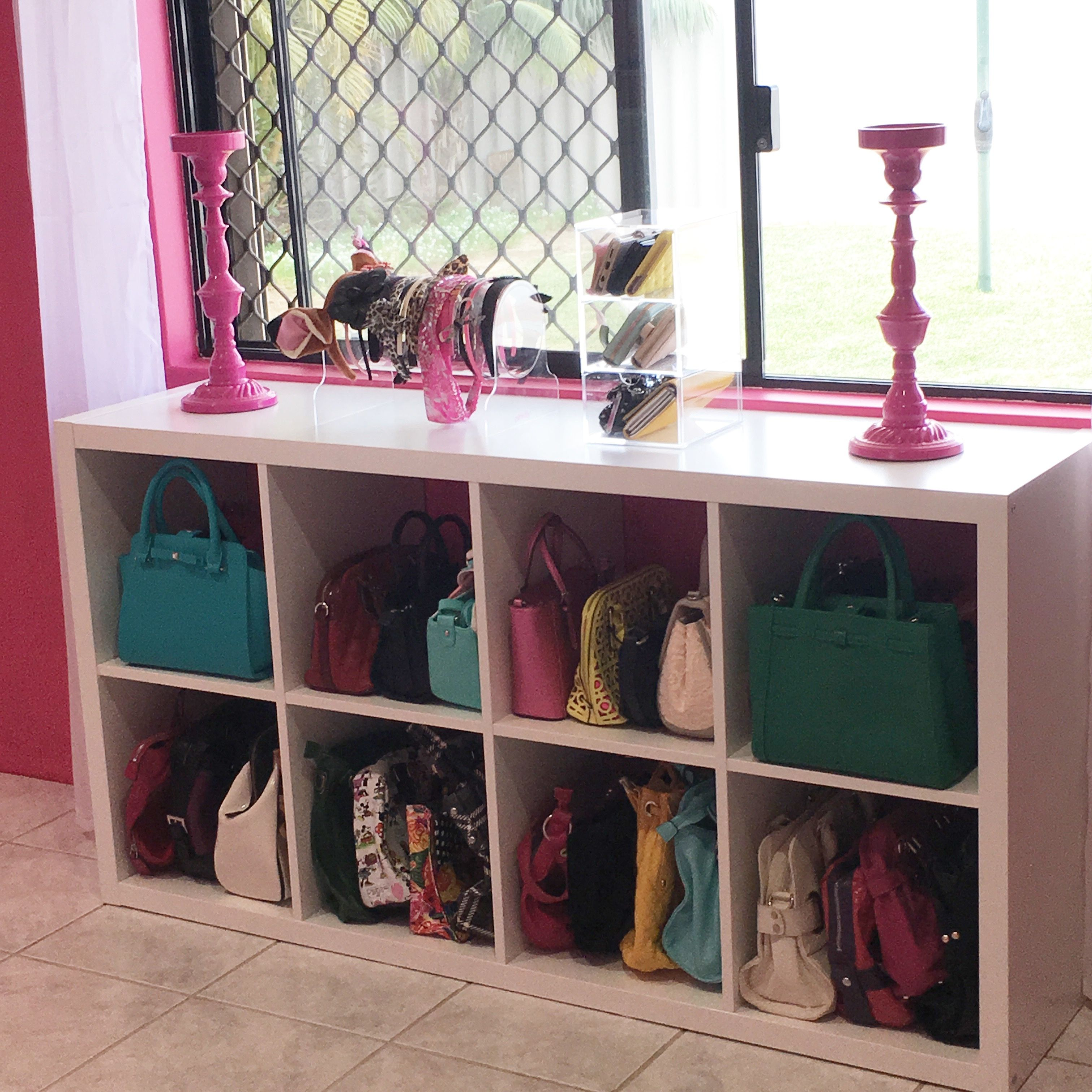 IKEA Hack   Handbag Storage
