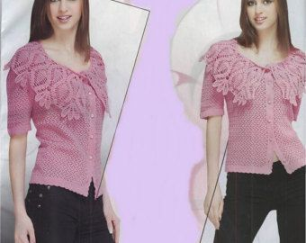 Ladies pink blouse crochet / custom by AnnieCrochetFashion on Etsy