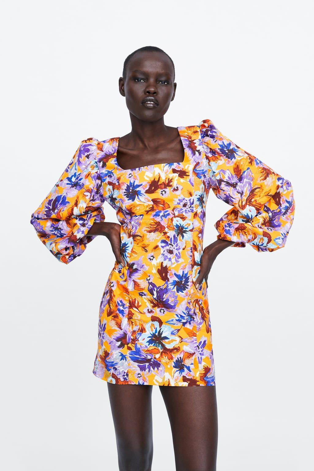 Floral print balloon sleeve dress floral prints dresses