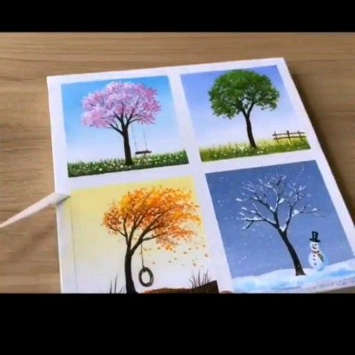 Photo of Tree Abstract Painting Video