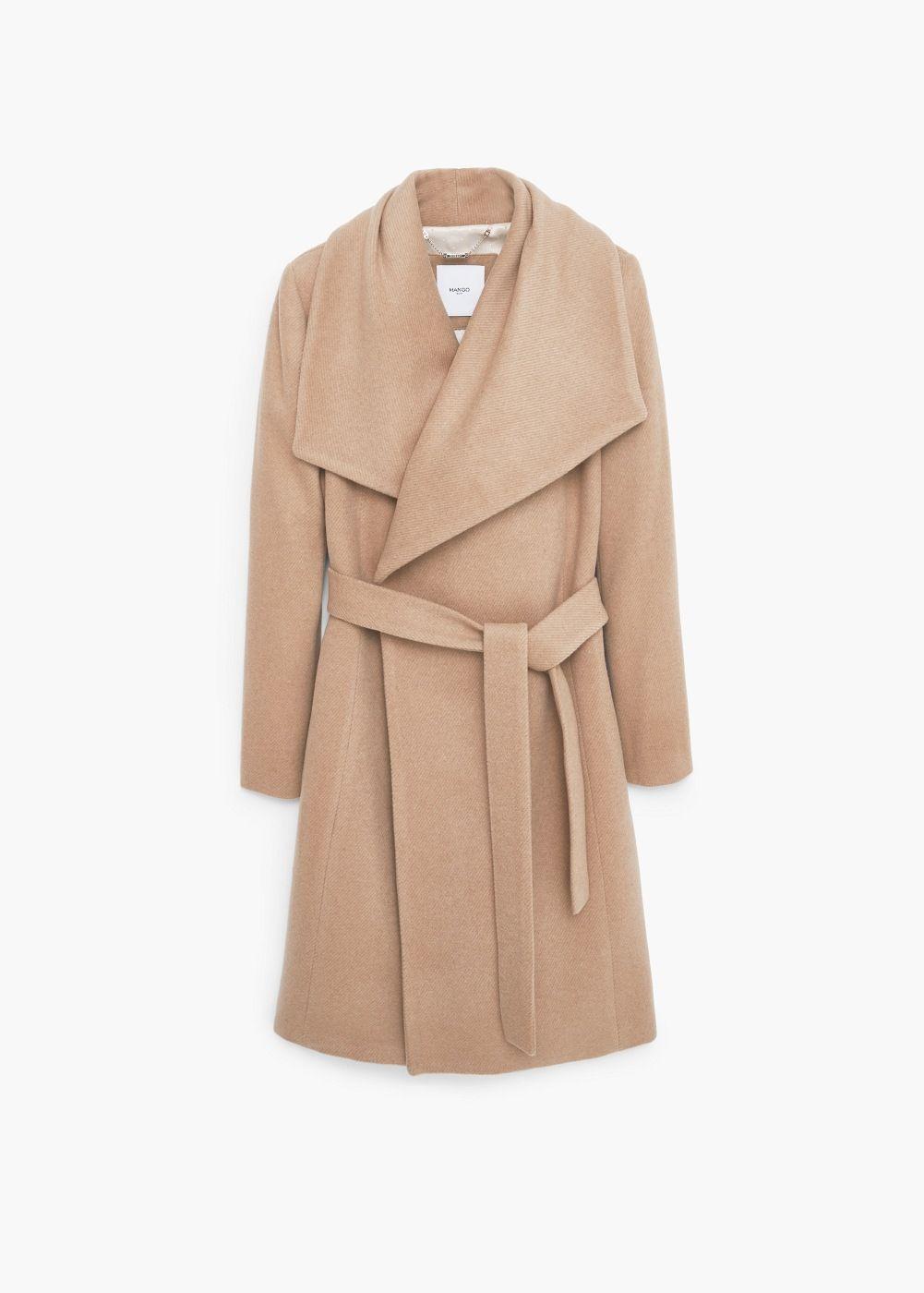 d23b1fffe26ce Lapels wool coat - Trench coat and coats for Women