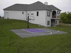 Amazing Backyard Sport Court Cost With Basketball Court Surfaces Cost Ideas