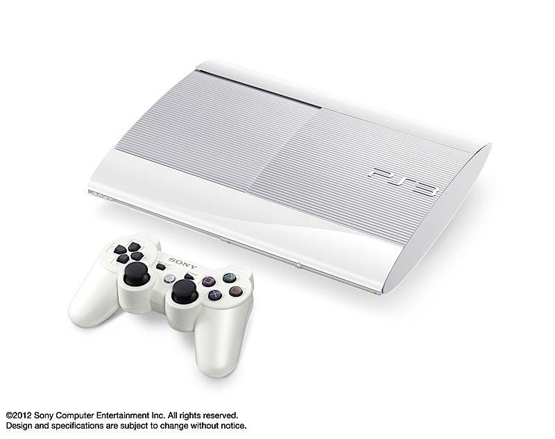 White Sony Ps3 2012 Playstation Playstation 3 Super Slim