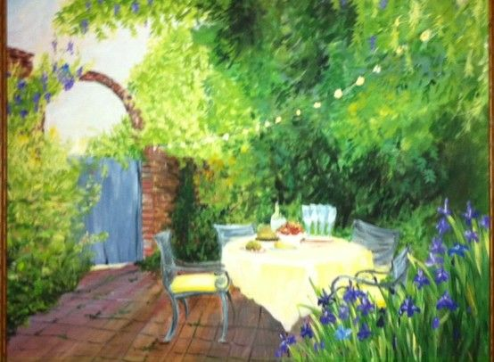 Tea in the Garden. By Sarah Corrice#Pin By:Pinterest++ for iPad#