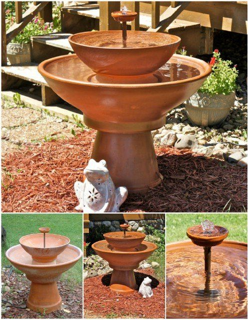 27 Decorative Terra Cotta Crafts To Beautify Your Outdoor Spaces #fountaindiy