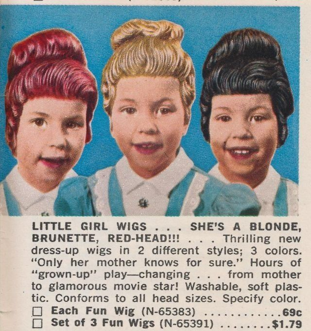 Enid was thrilled to discover plastic wigs for children. These should help hide the damage until the girls' head lice went away.