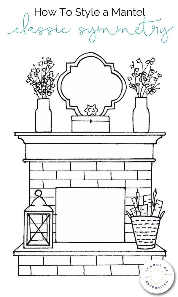 Photo of Learn how to style a mantel four ways – Classic Symmetry, Balanced Asymmetry, Cl…