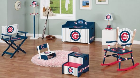 I'm so excited I found this for my son! His daddy taught him to say GO CUBS GO at 1yr old :)