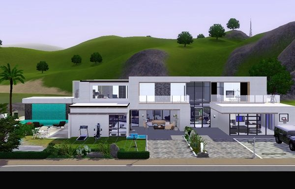 LIVING DESIGN MODERN HOUSE THE SIMS 3