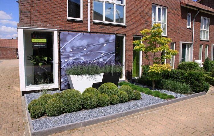 wwwtuindesign-ten-hornnl Tuinarchitect - tuinontwerp - moderner vorgarten mit kies