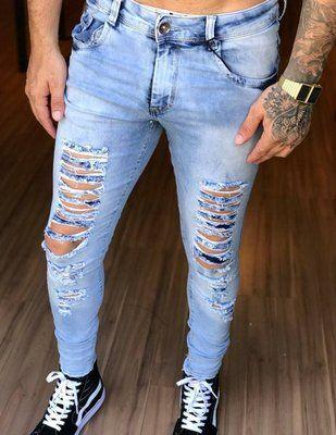 43d46104b Calça Jeans Skinny Destroyed Ziper Barra - Kawipii en 2019 | SKEYPS ...