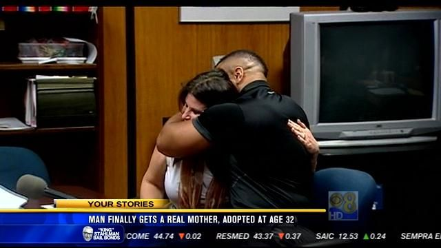 After years apart, man adopted by one-time foster mother
