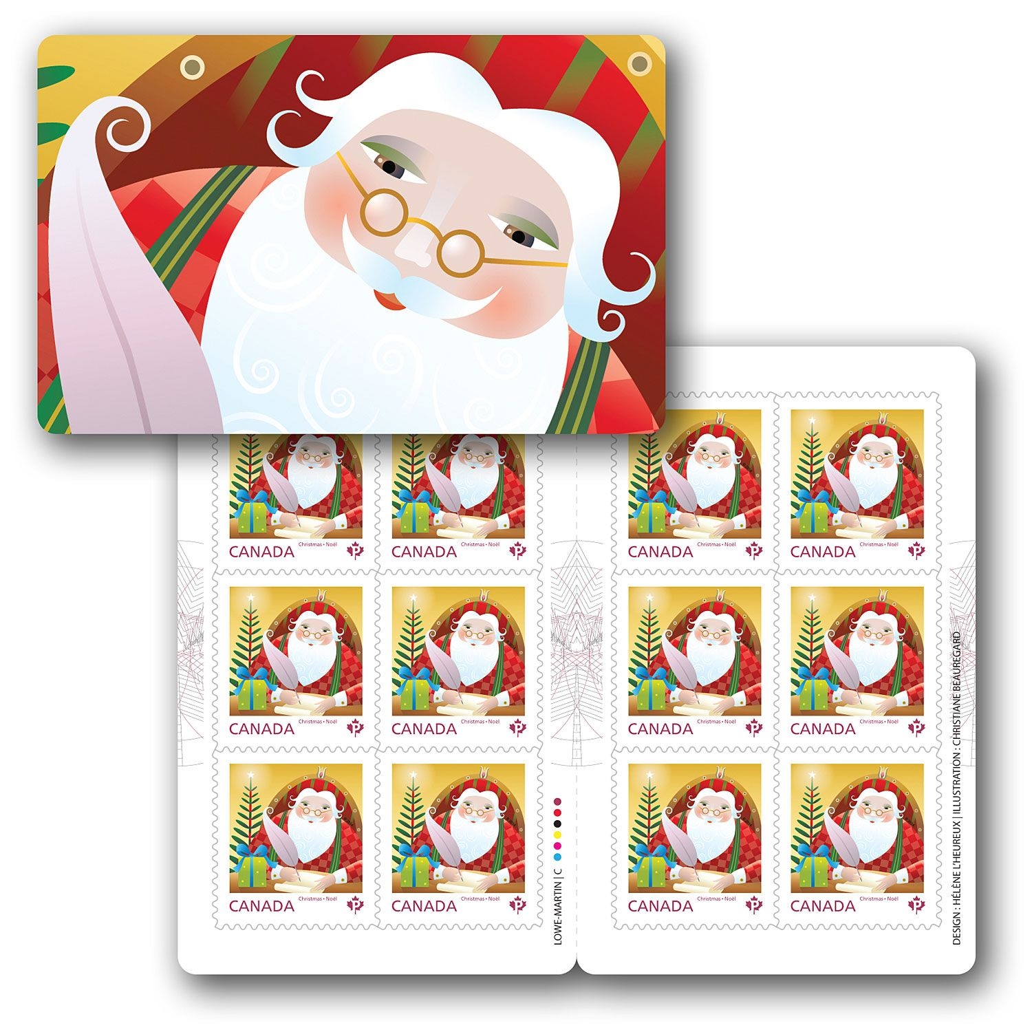 Canada Post Santa Booklet of 12 stamps Permanent