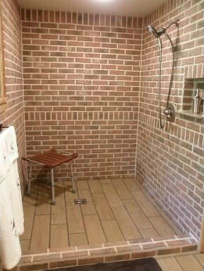 Best 25 Brick Tile Shower Ideas On Pinterest Rock