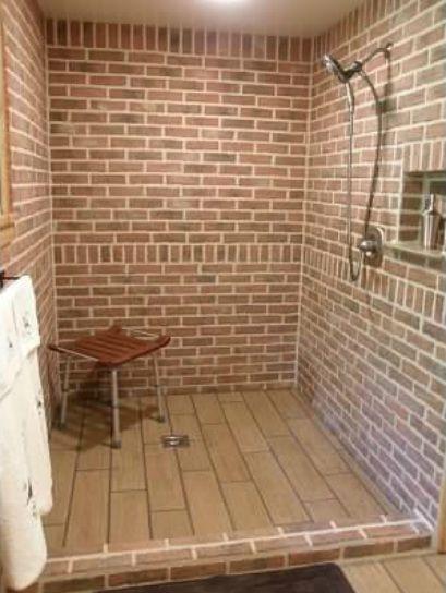 Best 25 Brick Tile Shower Ideas On Pinterest Master