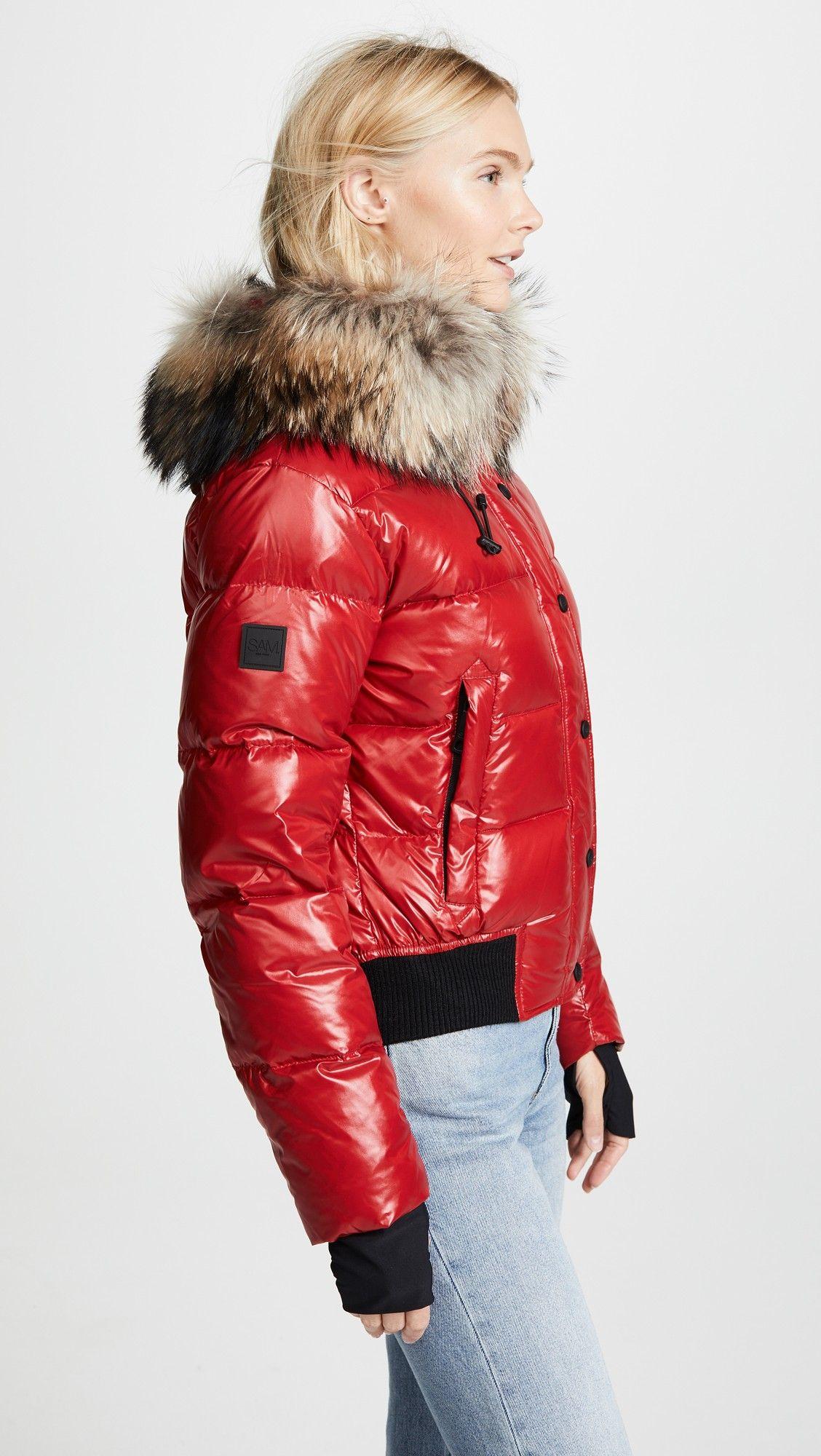 Sam Skyler Short Down Jacket With Fur [ 2000 x 1128 Pixel ]