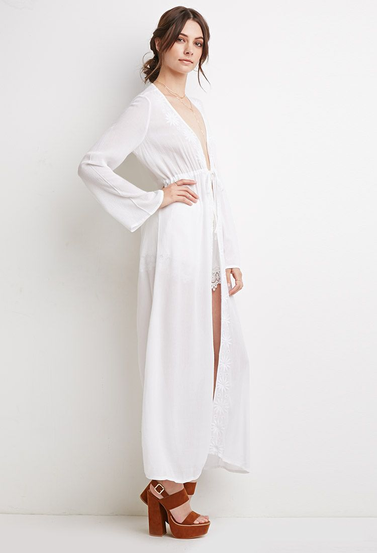 forever-21-white-embroidered-gauze-maxi-cardigan-product-4 ...