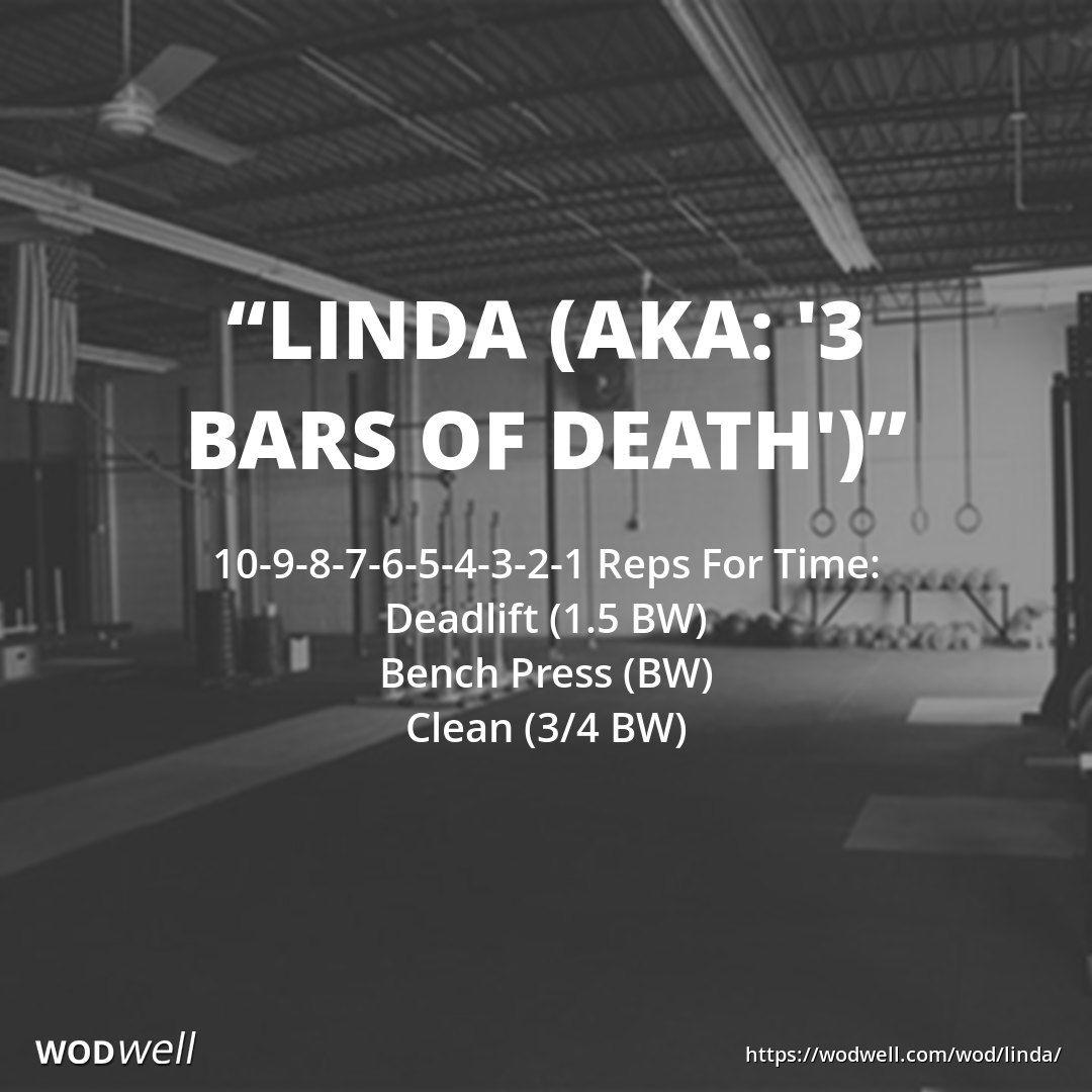 Image result for crossfit wod linda