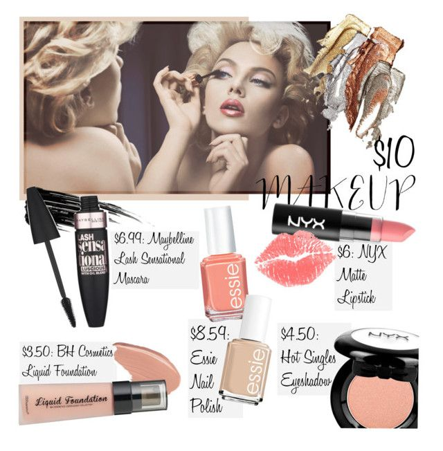 """""""Less is More"""" by tropicalcraze ❤ liked on Polyvore featuring Urban Decay, Maybelline, NYX, BHCosmetics, Essie and 10dollarbeauty"""