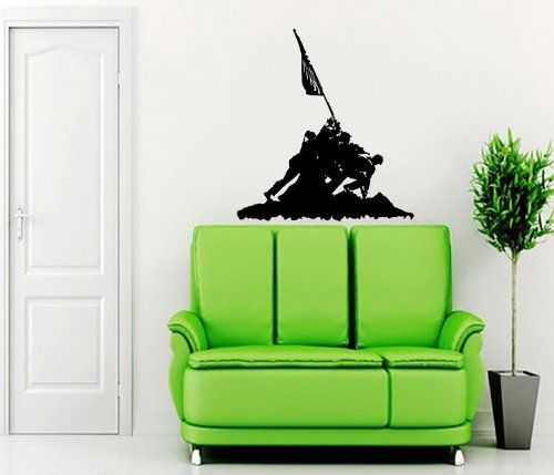 Silhouette Military Wall Vinyl Decals Sticker Home Interior Decor for Any Room Housewares Mural Design Graphic Bedroom Wall Decal (5595) stickergraphics http://www.amazon.com/dp/B00K3NP94G/ref=cm_sw_r_pi_dp_n-WVtb005ZFA2PR2
